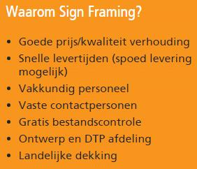 Signframing - reclameborden